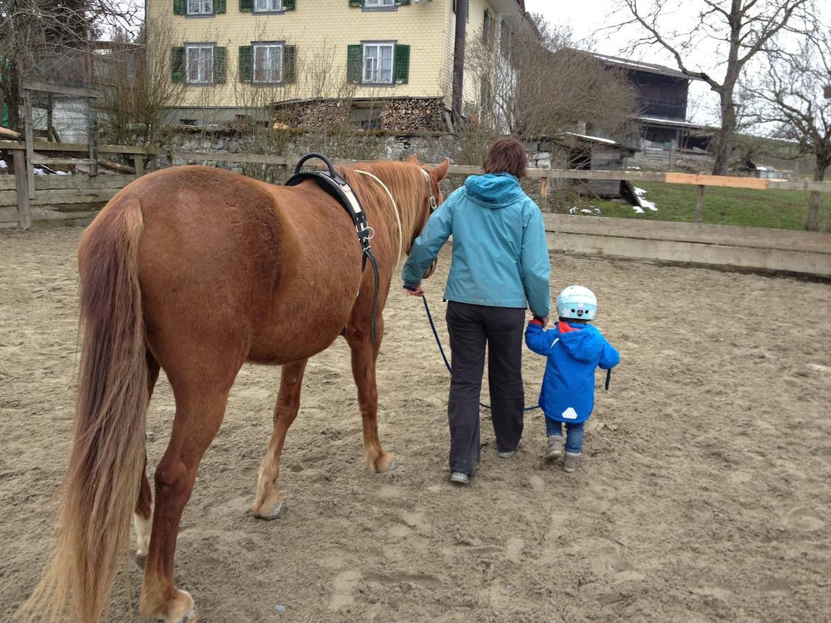 Kind Pferd Vertrauen